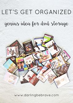 let's get organized: dvd storage solution.  { via darlingbebrave.com }