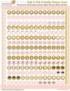 Pink Gold 2017 New Year Printable DIY Planner von DigiScrapDelights