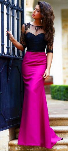 Prom Dress, New Arrival Prom Dress, Halter Prom Dress, Open Back Prom Dress, Half Sleeve Prom Dress