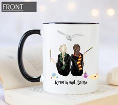 Custom HP mug, best friend wizard mug custom mug, pick your house mug, espresso patronum mug, always Friends Coffee Mug, Friend Mugs, Funny Coffee Mugs, Funny Mugs, Customised Mugs, Custom Mugs, Sister Gifts, Best Friend Gifts, Homemade Housewarming Gifts