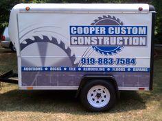 Cooper Custom Construction trailer wrap