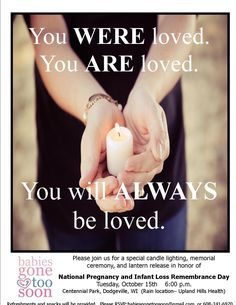 October 15th National Day of Remembrance Pregnancy and Infant Loss