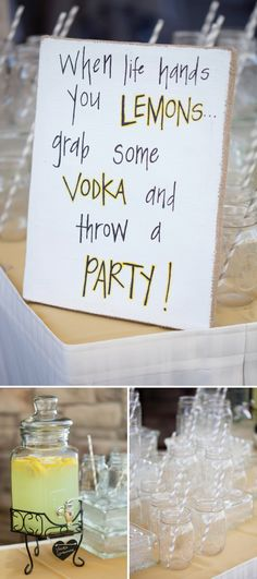 When life hand you lemons - grab some Vodka and throw a party!!! image: Ryan Nicole Photography