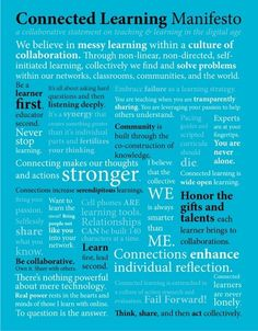 Take a look at this great Connected Learning Manifesto for Connected Educator Month #CE13 #infographic