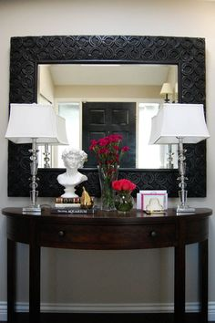 Love this entry table decor. Marcus Design Blog.