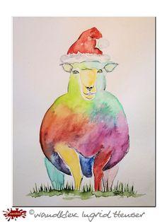"""No. 039 der wandklex-Unikatserie """"Ich war schon immer das Bunte Schaf der Familie"""" - nummerierte Einzelstücke! Ihr eigenes Schaf können Sie als Ihr Designerstück von wandklex® Ingrid Heuser, Ratzeburg, Germany bestellen:  im kleinen Klexshop bei DaWanda auf http://de.dawanda.com/shop/wandklex ©  Kunstatelier wandklex Ingrid Heuser, D-Ratzeburg Besuchen Sie mich auch auf facebook: https://www.facebook.com/wandklex"""