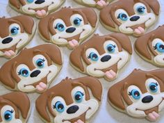 Items similar to Puppy Face Decorated Sugar Cookies - Birthday Party Favors, Animal Theme, Pets, Dog, Puppies, Party for Child, Custom Cookies on Etsy