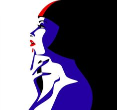 'CLAIR OBSCUR' Showgirl portrait illustration by Malika Favre inspired by Crazy Horse Saloon cabaret and burlesque in Paris, France Illustration Pop Art, Portrait Illustration, Portraits Illustrés, Crazy Horse Paris, Art Minimaliste, Arte Pop, Minimalist Art, Vaporwave, Oeuvre D'art