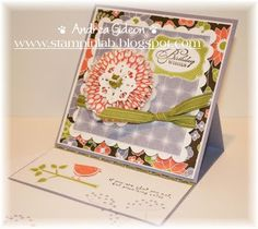 Stampin Up! Berry Blossoms Birthday Card