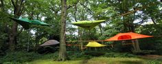 Tentsile Stingray Tree Tent - is capable of sleeping 3-adults (400 kg) in comfort & comes with a full insect-mesh roof & a removable waterproof fly that can be fitted over the top to keep rain/snow out or heat in.