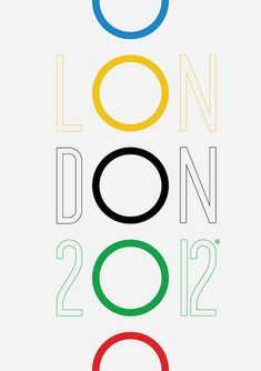 2012 London Olympics poster (unofficial art work) by Viktor Hertz