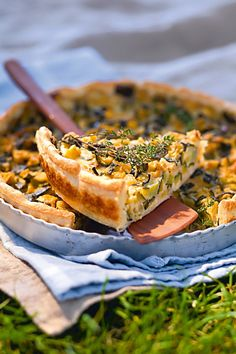 Smoothie Recipes 85962 Zucchini and Parmesan Confit Pie Recipe - Marie Claire Healthy Snacks To Buy, Easy Snacks, Healthy Breakfast Recipes, Easy Healthy Recipes, Vegetarian Recipes, Easy Meals, Tart Recipes, Snack Recipes, Cheese Recipes