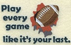 Last Game - 4x4 | Football | Machine Embroidery Designs | SWAKembroidery.com Starbird Stock Designs