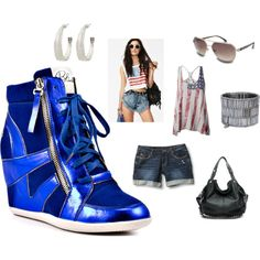 Designer Clothes, Shoes & Bags for Women Metallic Blue, Timeless Fashion, Rihanna, Punk, Shoe Bag, Chic, Sexy, Collection, Shopping