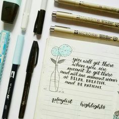 Self reassurance quotes as a reminder in my bullet journal