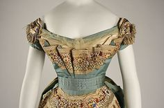 Detail of Ball gown House of Worth (French, 1858–1956) Designer: Charles Frederick Worth (French (born England), Bourne 1825–1895 Paris) Date: ca. 1872