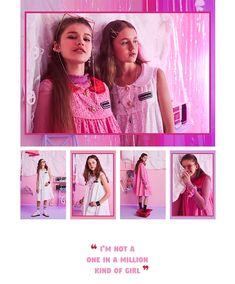소녀들만의 비밀스럽고 즐거운 시간 Graphic Design Fonts, Web Design, Photography Zine, Arte Sketchbook, Web Layout, Everything Pink, First Girl, Layout Inspiration, Fashion Books