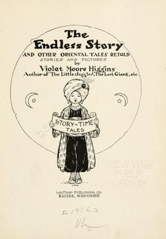 The endless story, and other Oriental tales retold by Violet Moore Higgins, 1916