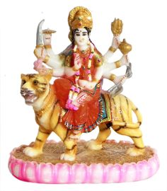 Vaishno Devi - Form of Durga (Reprint on Paper - Unframed) Vaishno Devi, Mata Rani, Mother Goddess, Durga, Sculptures, Resin, Princess Zelda, Statue, Christmas Ornaments
