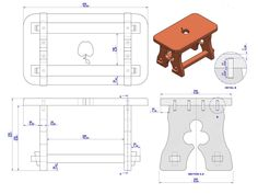 Rustic Chair Plan - Assembly Drawing Source by Woodworking In An Apartment, Woodworking Jobs, Youtube Woodworking, Rustic Stools, Rustic Chair, Rustic House Plans, Fire Pit Table And Chairs, Wooden Steps, Mountain House Plans