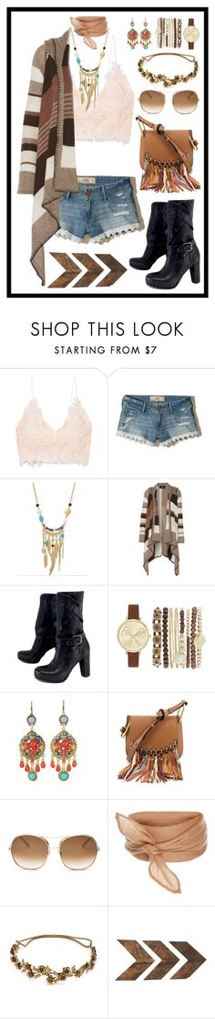 """""""Coachella, Here I am"""" by stella-patricia ❤ liked on Polyvore featuring Rime Arodaky, Hollister Co., WithChic, Line, Vera Wang, Jessica Carlyle, Chloé, Jennifer Behr and WALL"""