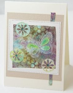 Paper Towels: Stamped, Punched then Collaged : : Tutorial  hmm where do I file this? in journals