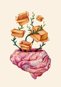 """""""Thinking out of the box does not exist - there is no box."""" Olga Svart Illustration"""