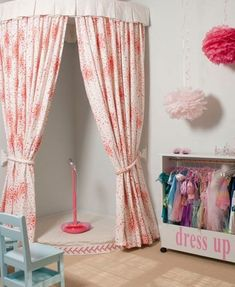 Dress up Corner Kids Playroom: How to Create a Space Thats Fun yet Functional Playroom Stage, Toddler Playroom, Playroom Ideas, Playroom Design, Kids Stage, Children Playroom, Basement Ideas, Playroom Decor, Boy Decor
