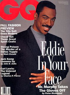 From JFK to Jessica Alba, see every cover in our fifty-year history Best Fashion Magazines, Celebrity Magazines, Eddie Murphy Movies, Gq Magazine Covers, Magazine Images, Jack Kemp, Carl Lewis, Glam Photoshoot, Black Magazine
