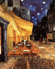 off Hand made oil painting reproduction of Cafe Terrace on the Place du Forum, one of the most famous paintings by Vincent Van Gogh. The first painting of Van Gogh's to feature his remarkable rendering of starry skies; Café Terrace on the Place . Art Van, Van Gogh Art, Vincent Van Gogh, Van Gogh Pinturas, Most Famous Paintings, Famous Artwork, Famous Art Pieces, Van Gogh Museum, Van Gogh Paintings