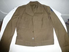"Vintage WWII US Army Wool Military Uniform Ike Eisenhower Field Coat ""Follow Me"""