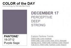 ...y el color de hoy es Salvia Púrpura, un color perceptivo, profundo, fuerte.