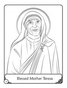 1000 images about mother teresa on pinterest blessed for Blessed mother coloring page