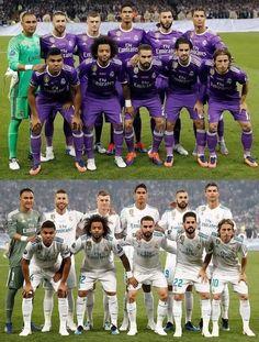and Starting XI. Same order same poses. Fotos Real Madrid, Real Madrid Team, Real Madrid Football, Best Football Players, Football Kits, Soccer Players, Football Soccer, Cardiff, Real Madrid Cristiano Ronaldo