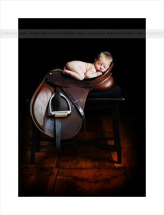 OMG, need sweet newborn (not my own) & english saddle; now, who will offer their child to me and let me take a picture like this!?