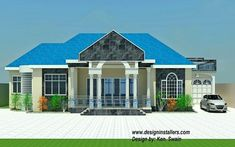 Modern House Plans In Ghana Awesome Nice 4 Bedroom House Design In Ghana 14 In Home Design Simple House Interior Design, 2 Bedroom House Design, Four Bedroom House Plans, Modern House Design, Home Design, Free House Plans, Simple House Plans, Modern House Plans, House Plans Mansion