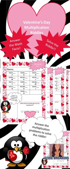 Students can practice their multiplication math facts (1-12) and have fun doing it!