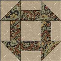 Traditional Churn Dash quilt block                                                                                                                                                                                 More