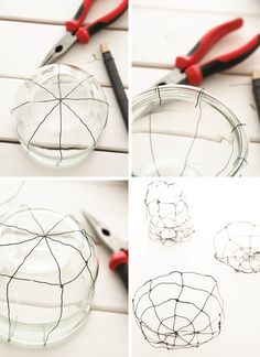 DIY: Easter basket made of wire - Sodapop design - DIY Easter nests made of wire, wire nests, wire baskets via sodapop design - Wire Crafts, Diy And Crafts, Art Fil, Wire Art Sculpture, Basket Crafts, Boutique Deco, Wire Baskets, Creative Crafts, Bead Art
