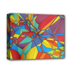 """Colorful+miscellaneous+shapes+Deluxe+Canvas+14""""+x+11""""+(Stretched)"""