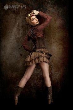 Steampunk Tendencies   Courtesy darkknot.com  #Fashion #Pinup #Steampunkgirl