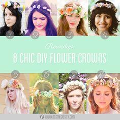 Roundup: 8 Chic DIY Flower Crowns | Nostalgiosity - Nostalgia Meets Curiosity ❤