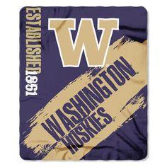 eb59f5427 OneStopFanShop - University of Washington Bold Logo Large Fleece Blanket