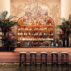 cocktail bar - New Cabaret Club in Miami—El Tucan; Bar Interior Design, Restaurant Interior Design, Cafe Design, Cocktail Bar Interior, Cocktail Bar Design, Bar Deco, Cuban Restaurant, Luxury Restaurant, Restaurant Chairs