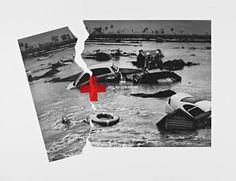 Red cross y una impactante grafica. Siempre están sobre el terreno para ayudar.