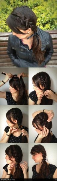 Trendy side braid that I will have to learn how to do!