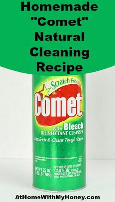 """Homemade """"Comet"""" Natural Cleaning Recipe"""