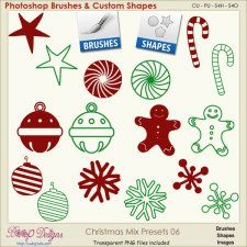 Christmas Brush & Shape PRESETS 06  #CUdigitals cudigitals.comcu commercialdigitalscrapscrapbookgraphics #digiscrap