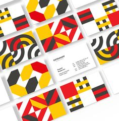 Bauhaus-inspired dynamic identity for security company. Graphic Pattern, Pattern Design, Print Design, Logo Design, Brochure Design, Layout Design, Design Design, Bauhaus Logo, Bauhaus Design