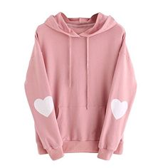 Girls Sports Hoodie, Miskay Heart Print Sweatshirt Jumper.